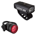 Lezyne Micro Drive 400XL/Femto Combo Light Set, Black