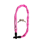 "Kryptonite Keeper 465 Key Integrated Chain, 4mm x 2`1.5"", Pink"