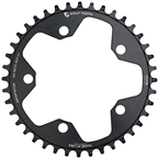 Wolf Tooth 110 BCD Cyclocross and Road Chainring - 38t, 110 BCD, 5-Bolt, Drop-Stop, 10/11/12-Speed Eagle and Flattop Compatible, Black