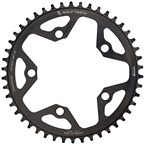 Wolf Tooth 110 BCD Cyclocross and Road Chainring - 42t, 110 BCD, 5-Bolt, Drop-Stop, 10/11/12-Speed Eagle and Flattop Compatible, Black