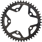 Wolf Tooth 110 BCD Cyclocross and Road Chainring - 44t, 110 BCD, 5-Bolt, Drop-Stop, 10/11/12-Speed Eagle and Flattop Compatible, Black