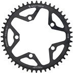 Wolf Tooth 110 BCD Cyclocross and Road Chainring - 48t, 110 BCD, 5-Bolt, Drop-Stop, 10/11/12-Speed Eagle and Flattop Compatible, Black