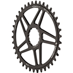 Wolf Tooth Elliptical Direct Mount Chainring - 38t, RaceFace/Easton CINCH Direct Mount, 3mm Offset, 10/11/12-Spd Eagle and Flattop, Black