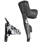 SRAM RED eTap AXS HRD Shift/Brake Lever and Hydraulic Disc Caliper - Left/Front, Flat Mount, 20mm Offset, 950mm Hose, Black/Silver, D1