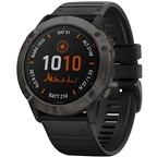 Garmin Fenix 6X Pro Solar GPS Watch - Carbon Gray/Black