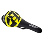Reverse Fort Will Style CrMo Saddle, Black/Yellow