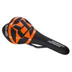 Reverse Fort Will Style CrMo Saddle, Black/Orange