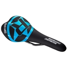 Reverse Fort Will Style CrMo Saddle, Black/Light Blue
