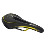 Reverse AM Ergo CrMo Saddle, Black/Yellow, 270mm x 143mm