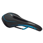 Reverse AM Ergo CrMo Saddle, Black/Light Blue