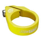 Reverse Bolt Seatpost Clamp, 34.9mm, Neon Yellow