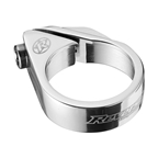 Reverse Bolt Seatpost Clamp, 34.9mm, Silver