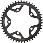 Wolf Tooth 110 BCD Cyclocross and Road Chainring - 36t, 110 BCD, 5-Bolt, Drop-Stop, 10/11/12-Speed Eagle and Flattop Compatible, Black