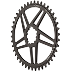 Wolf Tooth Elliptical Direct Mount Chainring - 42t, SRAM Direct Mount, 6mm Offset, Drop-Stop, Flattop Compatible, Black