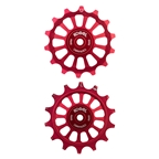 Kogel Hybrid Ceramic Derailleur Pulleys, 12 Speed Shimano, 14T, Red