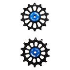 Kogel Hybrid Ceramic Derailleur Pulleys, Shimano 12 Speed, Black/Blue