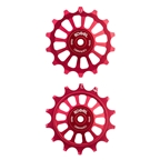 Kogel Hybrid Ceramic Derailleur Pulleys, Sram Eagle, 12 Speed, Red