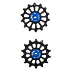 Kogel Hybrid Ceramic Derailleur Pulleys, SRAM Eagle, 12 Speed, Black/Blue
