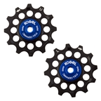 Kogel Full Ceramic Derailleur Pulleys, Shimano OS Full Ceramic, Black/Blue