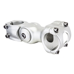 "Sunlite 0 degree-60 degree Adjustable Mountain Threadless Stem, 1 or 1-1/8"", 25.4 or 31.8, 95mm, Silver"