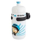 Zefal Little Z Boy 12oz Water Bottle with Cage, White/Blue