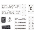 Surly Cross Check Frame Decal Set - White, with Scissors