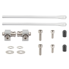 Tubus Rear Rack Mounting Hardware Set with Clamps, 350mm, Silver