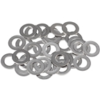 WHISKY Stainless .3mm Spoke Nipple Washers, Bag of 34
