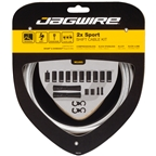 Jagwire 2x Sport Shift Cable Kit SRAM/Shimano, Sterling Silver
