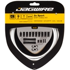 Jagwire 2x Sport Shift Cable Kit SRAM/Shimano, White