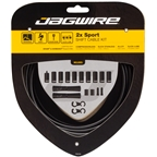 Jagwire 2x Sport Shift Cable Kit SRAM/Shimano, Black