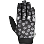 Fist Handwear Frosty Fingers Cold Weather Gloves - Black/White Snowflake, Full Finger