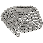 "Salt Cool Knight Chain - Single Speed 1/2"" x 1/8"", 100 Links, Silver"