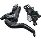 Magura MT4 eSTOP Disc Brake and Lever - Front or Rear, Hydraulic, Post Mount, Black