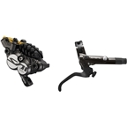 Shimano Saint BL-M820-B/BR-M820 Disc Brake and Lever - Rear, Hydraulic, Post Mount, Finned Metal Pads, Black