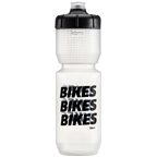 Fabric Gripper Bikes Bikes Bikes Water Bottle - 750ml, Clear/Black