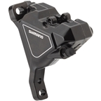 Shimano Altus BR-UR300 Front Flat-Mount Hydraulic Disc Brake Caliper with Resin Pads without Fins, Black