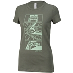 All-City Damn Fine Women's T-Shirt - Military Green