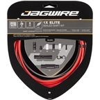 Jagwire 1x Elite Sealed Shift Cable Kit SRAM/Shimano with Polished Ultra-Slick Cable, Red
