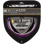 Jagwire 2x Elite Link Shift Cable Kit SRAM/Shimano with Polished Ultra-Slick Cables, Ltd. Purple