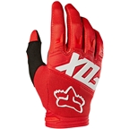 Fox Racing Youth Dirtpaw Race Gloves - Red, Full Finger, Youth