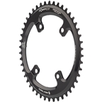 Wolf Tooth Elliptical Shimano 110 Asymmetric BCD Chainring - 46t, 110 Asymmetric BCD, 4-Bolt, Drop-Stop, For Shimano GRX Cranks, Black