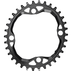 absoluteBLACK Oval 104 BCD Chainring - 36t, 104 BCD, 4-Bolt, Requires Hyperglide+ Chain, Black