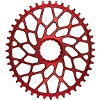 absoluteBLACK Oval Narrow-Wide Direct Mount Chainring - 44t, CINCH Direct Mount, 3mm Offset, Red