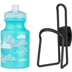 MSW Kids Water Bottle and Cage Kit - Clouds w/ Black Cage