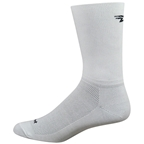 DeFeet Aireator D-Logo Double Cuff Socks - 6 inch, White