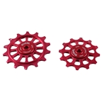 Kogel Bearings 12/14T Oversized Pulley Set Shim R9100, Road - Red