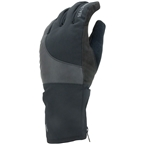 SealSkinz Waterproof Cold Weather Reflective Cycle Gloves - Black, Full Finger