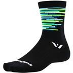 Swiftwick Vision Six Sprint Socks - 6 inch, Black
