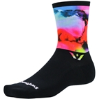 Swiftwick Vision Six Impression Socks - 6 inch, Vapor